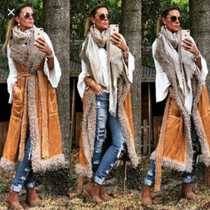 Spell and the Gypsy Highway Shearling Long Vest